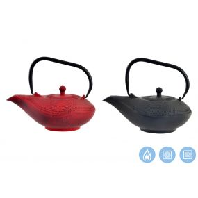 TEAPOT CAST IRON 21X16X12 1000 ML. INFUSIONER 2 MO