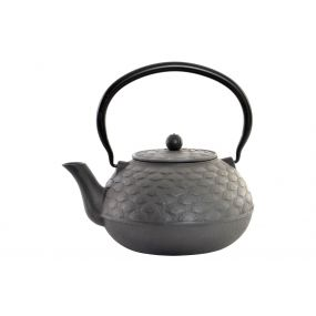 TEAPOT CAST IRON 21X17X23 1800 ML. FAN BLACK