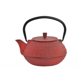 TEAPOT CAST IRON 18X15X15 900 ML. ORIENTAL WHITE