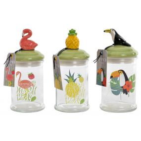 POT GLASS CERAMIC 8X8X18,5 000 ML. TROPICAL 3 MOD.