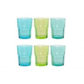 GLASS SET 6 GLASS 8X8X10,2 300 ML. 3 MOD.