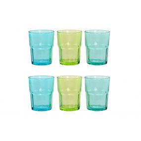 GLASS SET 6 GLASS 8X8X10,2 300 ML. 3 MOD.