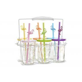 GLASS SET 6 GLASS METAL 26,5X16X24 000 ML. FLEMISH
