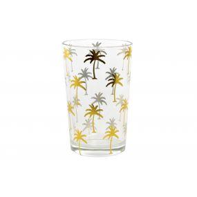 GLASS GLASS 7,5X7,5X11,5 000 ML. TROPICAL GOLDEN