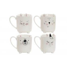 MUG PORCELANA 11X8X10 ANIMAL 3D 4 SURT.