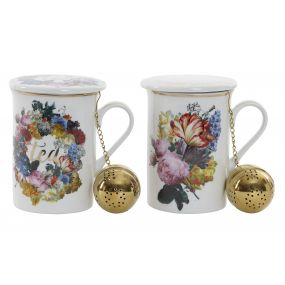 TEA MUG PORCELAIN 10,5X8X11 280 HYPERFLORAL 2 MOD.