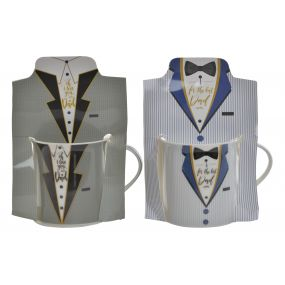 MUG PORCELAIN 12X8,5X8,5 320 ML. SUIT 2 MOD.