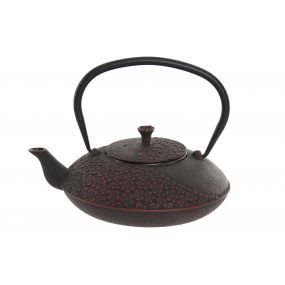 TEAPOT CAST IRON INOX 22X18X10 900 ML. BLACK