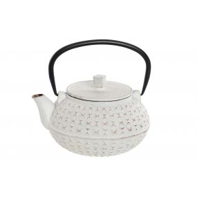 TEAPOT CAST IRON INOX 17X15X15,5 1L. WHITE