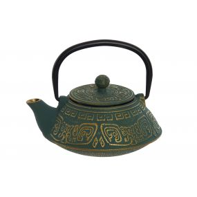 TEAPOT CAST IRON INOX 17X15X15,5 400ML. GOLDEN