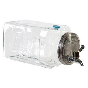 DISPENSER GLASS METAL 12X32X14 3 LITROS RELIEF
