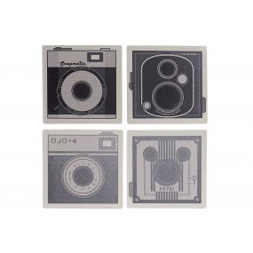 COASTER SET 4 DOLOMITE 10,8X10,8X0,7 90 CAMERA