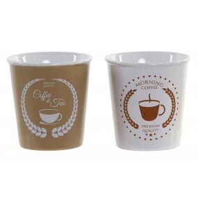 MUG STONEWARE 8X8X8,5 250ML COFFEE 2 MOD.