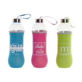BOTTLE GLASS NEOPRENE 7X7X25 600 SENTENCE 3 MOD.