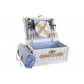 PICNIC BASKET WICKER POLYESTER 40X28X19 4 SERVICES