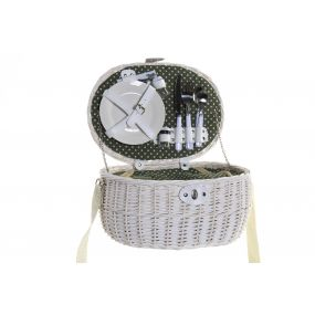 PICNIC BASKET WICKER POLYESTER 39X28X18 2 SERVICES