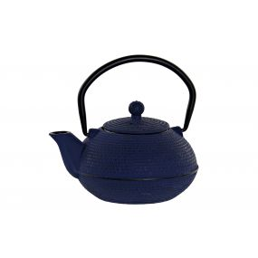 TEAPOT CAST IRON 15,3X12,9X14,5 500 ML. BLUE