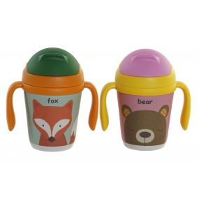MUG RECYCLED BAMBOO 12X8X13 300ML. ANIMAL 2 MOD.