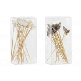 APERITIF SET 20 WOOD 0,5X1X11,2 SEASHELL NATURAL