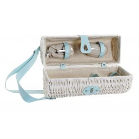 PICNIC BASKET SET 6 PP 27X18X39 BOTTLE RACK