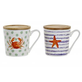 TEA MUG PORCELAIN 13X9,5X10 400 ML. SUMMER 2 MOD.