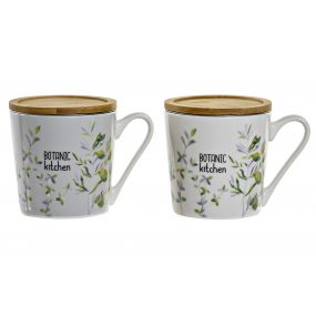 TEA MUG PORCELAIN 13X9,5X10 400 ML. BOTANIC 2 MOD.