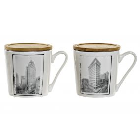 TEA MUG PORCELAIN 13X9,5X10 400 ML. CITY 2 MOD.