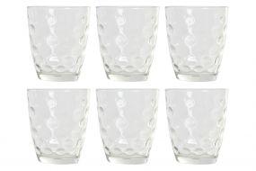 GLASS SET 6 GLASS 8,7X8,7X8,7 300 ML. TRANSPARENT