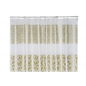 CURTAIN PEVA EVE 180X200 ANIMAL PRINT GOLDEN