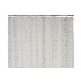 CURTAIN PEVA EVE 180X200X0,5 GEOMETRIC GOLDEN