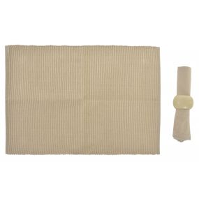 INDIVIDUAL SET 12 COTTON 10X10X35 4 NAPKINS BROWN