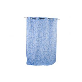 CURTAIN POLYESTER 140X270 FLORAL BLUE