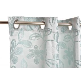 CURTAIN POLYESTER 140X270 160 GSM. FLOWERS SATIN