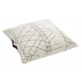 FLOOR CUSHION COTTON 75X20X75 6KG. ROMOS WHITE