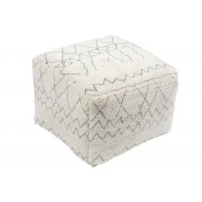 POUF COTTON 50X50X35 3KG. ROMOS WHITE