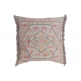 CUSHION COTTON 60X60 768 GR. AGED MULTICOLORED