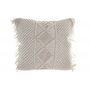 CUSHION MACRAME COTTON 55X17X55 1616GR. BEIGE