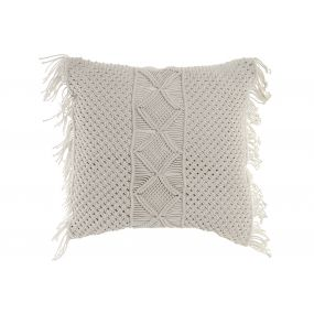 FLOOR CUSHION MACRAME COTTON 60X16X60 000 GR.
