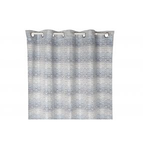 CURTAIN POLYESTER 140X270 160 GSM. CLOUDS BLUE
