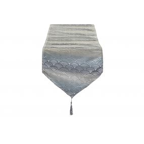 TABLE RUNNER POLYESTER 35X135 160 GSM. CLOUDS BLUE