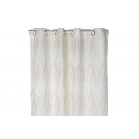 CURTAIN POLYESTER 140X270 180 GSM. FEATHERS IVORY