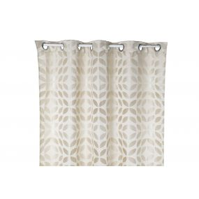CURTAIN POLYESTER 140X270 180 GSM. LEAVES BEIGE