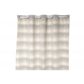 CURTAIN POLYESTER 140X270 180 GSM. CLOUDS GREY