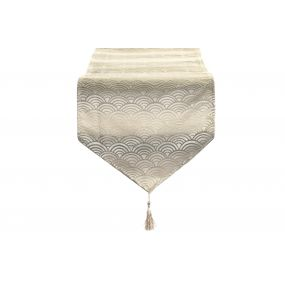 TABLE RUNNER POLYESTER 35X135 180 GSM. CLOUDS GREY