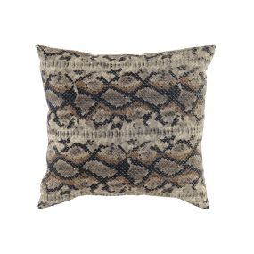 CUSHION POLYESTER 45X45 475 GR. SNAKE BROWN