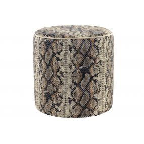 FOOTREST POLYESTER 40X40X40 SNAKE BROWN