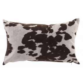 CUSHION POLYESTER 50X30 380 GR. COW BROWN