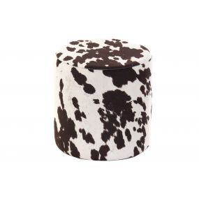 FOOTREST POLYESTER 30X30X30,5 COW BROWN