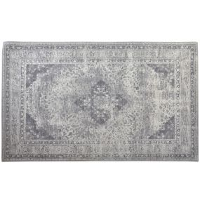 CARPET COTTON POLYESTER 200X290X0 17 SAROUK GREY