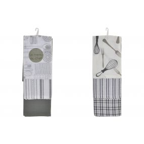 CLOTH SET 3 COTTON 60X40 KITCHEN 2 MOD.